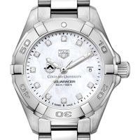Columbia Women's TAG Heuer Steel Aquaracer with MOP Diamond Dial