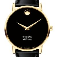 Texas McCombs Men's Movado Gold Museum Classic Leather