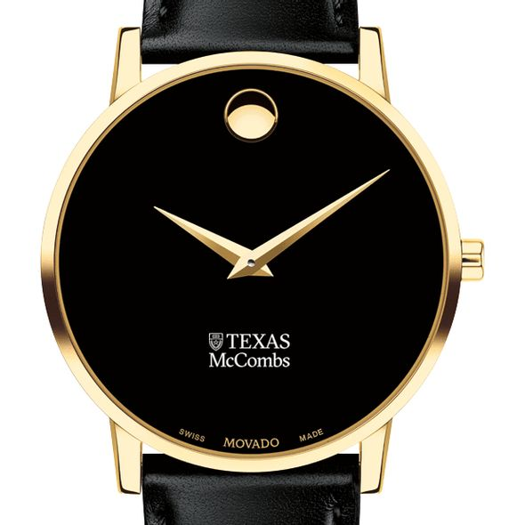 Texas McCombs Men's Movado Gold Museum Classic Leather - Image 1
