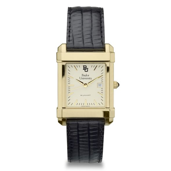 Baylor Men's Gold Quad with Leather Strap - Image 2