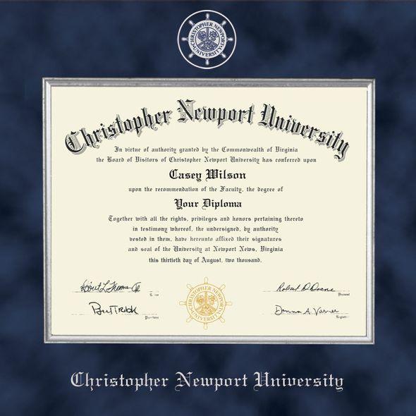 Christopher Newport University Diploma Frame - Excelsior - Image 2