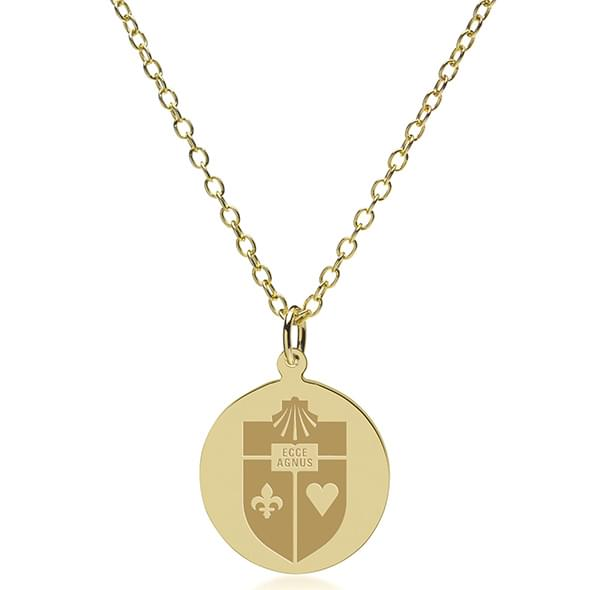 St. John's 14K Gold Pendant & Chain - Image 2