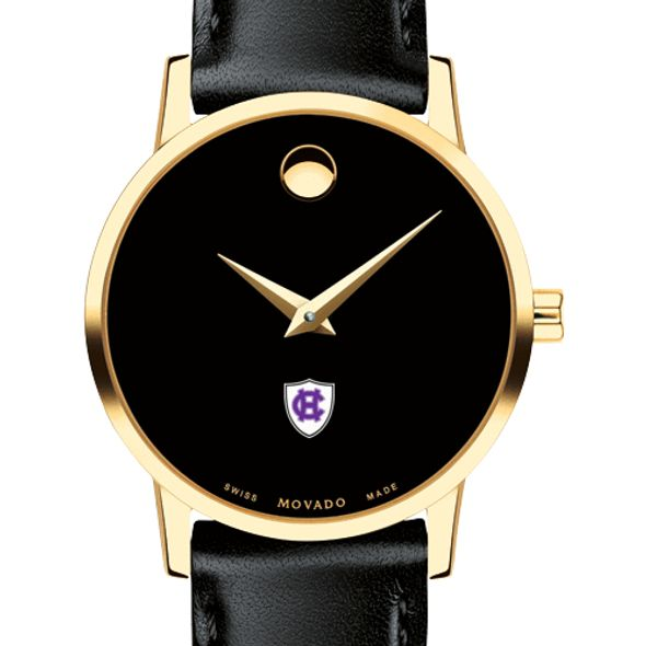 Holy Cross Women's Movado Gold Museum Classic Leather