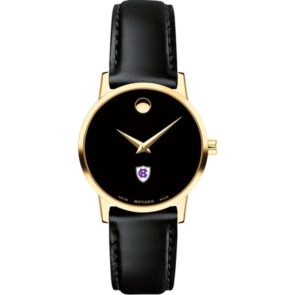 Holy Cross Women's Movado Gold Museum Classic Leather - Image 2