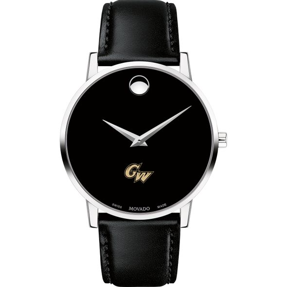 George Washington University Men's Movado Museum with Leather Strap - Image 2