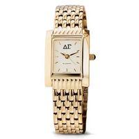 Delta Gamma Women's Gold Quad Watch with Bracelet