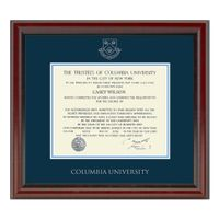 Columbia University Diploma Frame, the Fidelitas