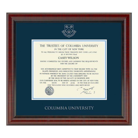 Columbia University Diploma Frame, the Fidelitas