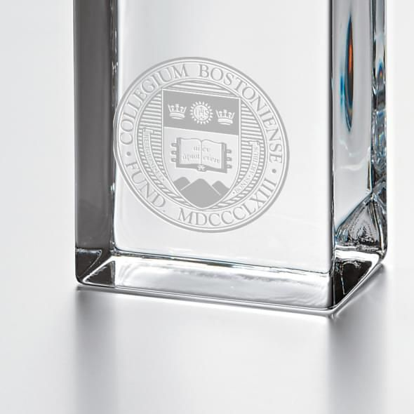 Boston College Tall Glass Desk Clock by Simon Pearce - Image 2
