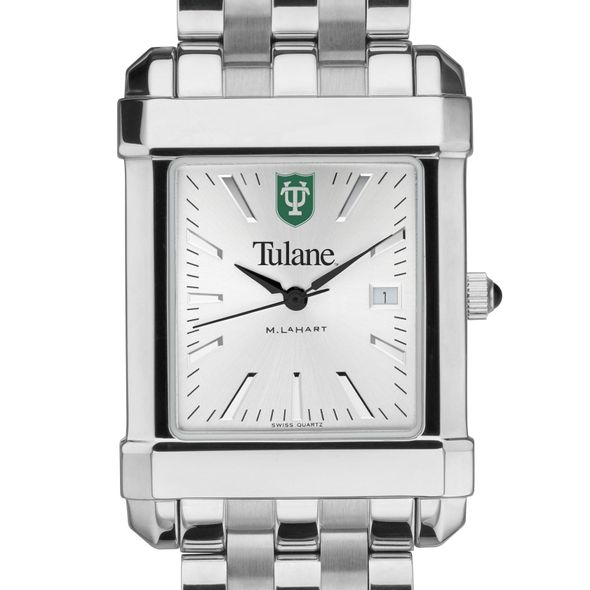 Tulane Men's Collegiate Watch w/ Bracelet - Image 1