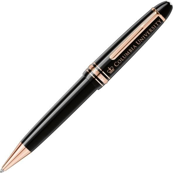 Columbia University Montblanc Meisterstück LeGrand Ballpoint Pen in Red Gold