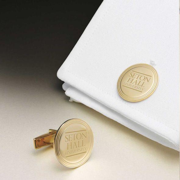 Seton Hall 18K Gold Cufflinks - Image 1