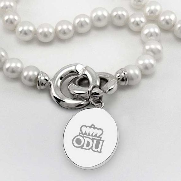 Old Dominion Pearl Necklace with Sterling Silver Charm - Image 2