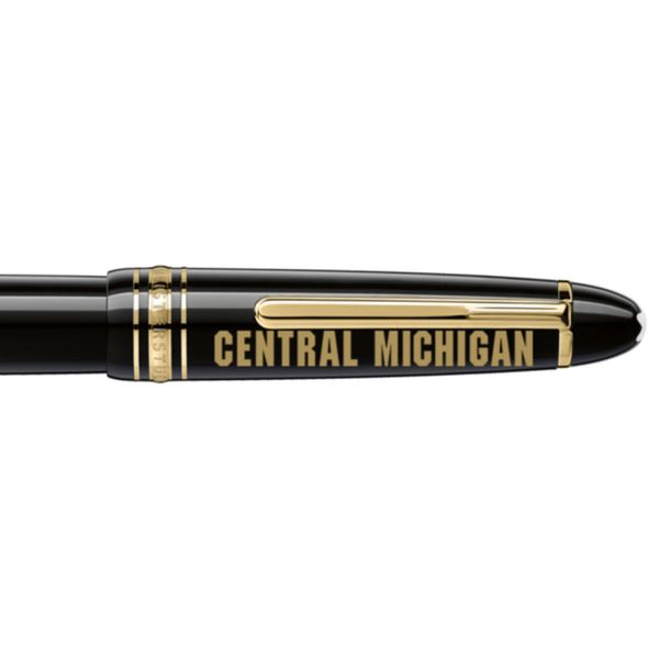 Central Michigan Montblanc Meisterstück LeGrand Rollerball Pen in Gold - Image 2