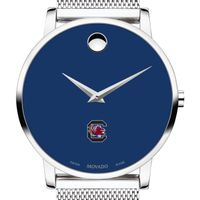 University of South Carolina Men's Movado Museum with Blue Dial & Mesh Bracelet