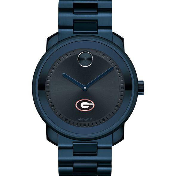 University of Georgia Men's Movado BOLD Blue Ion with Bracelet - Image 2