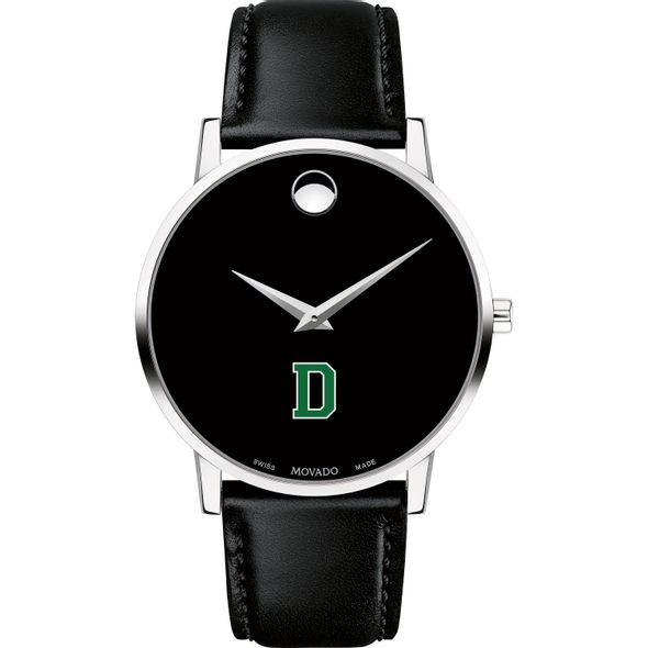 Dartmouth College Men's Movado Museum with Leather Strap - Image 2
