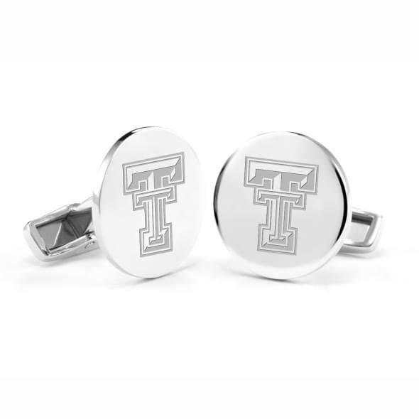 Texas Tech Cufflinks in Sterling Silver - Image 1