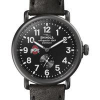 Ohio State Shinola Watch, The Runwell 41mm Black Dial
