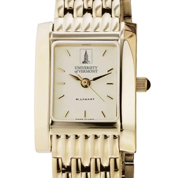 UVM Women's Gold Quad Watch with Bracelet