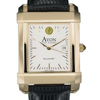 Avon Old Farms Men's Gold Quad Watch with Leather Strap