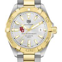 Boston University Men's TAG Heuer Two-Tone Aquaracer
