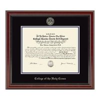 Holy Cross Diploma Frame, the Fidelitas