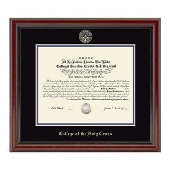 Holy Cross Diploma Frame, the Fidelitas