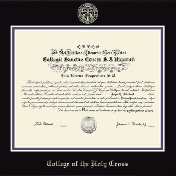 Holy Cross Diploma Frame, the Fidelitas - Image 2