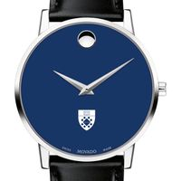Yale School of Management Men's Movado Museum with Blue Dial & Leather Strap