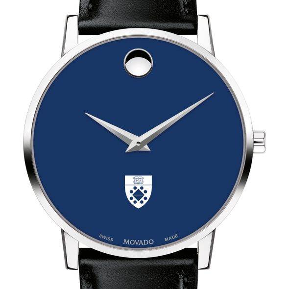 Yale School of Management Men's Movado Museum with Blue Dial & Leather Strap - Image 1