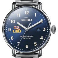 LSU Shinola Watch, The Canfield 43mm Blue Dial