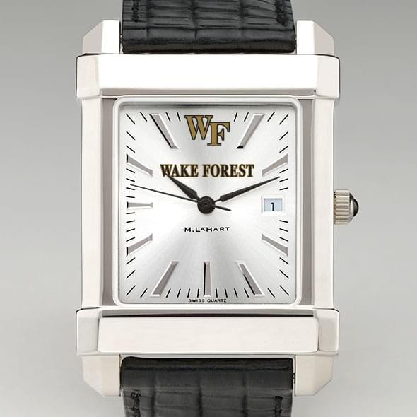 Wake Forest Men's Collegiate Watch with Leather Strap - Image 1