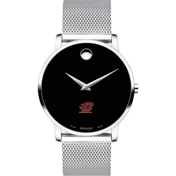 Central Michigan University Men's Movado Museum with Mesh Bracelet - Image 2