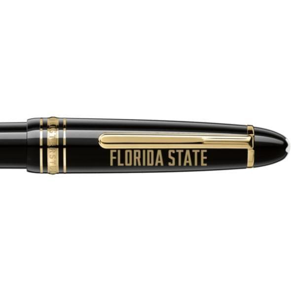 Florida State University Montblanc Meisterstück LeGrand Ballpoint Pen in Gold - Image 2