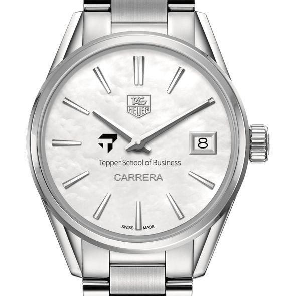 Tepper Women's TAG Heuer Steel Carrera with MOP Dial - Image 1