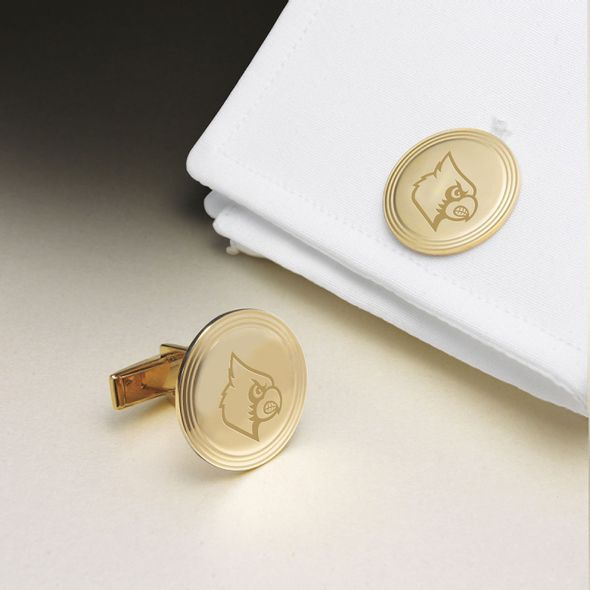 University of Louisville 18K Gold Cufflinks - Image 1