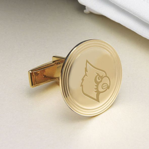 University of Louisville 18K Gold Cufflinks - Image 2