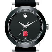 NC State Men's Movado Museum Sport Rubber Strap