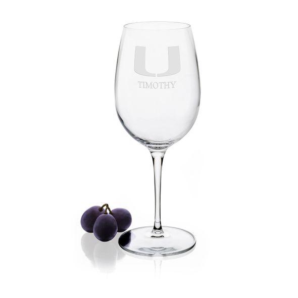 University of Miami Red Wine Glasses - Set of 2 - Image 1