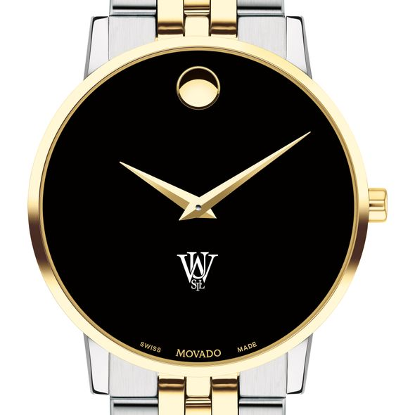 WashU Men's Movado Two-Tone Museum Classic Bracelet