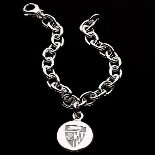 Johns Hopkins Sterling Silver Charm Bracelet