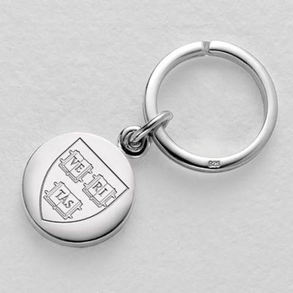 Harvard Sterling Silver Insignia Key Ring