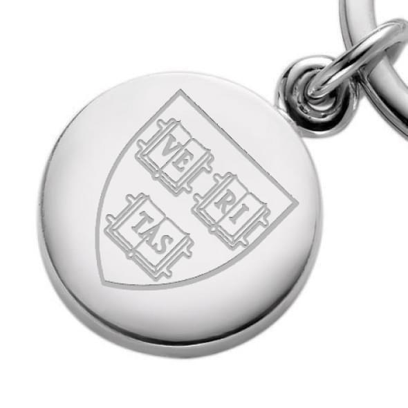 Harvard Sterling Silver Insignia Key Ring - Image 2