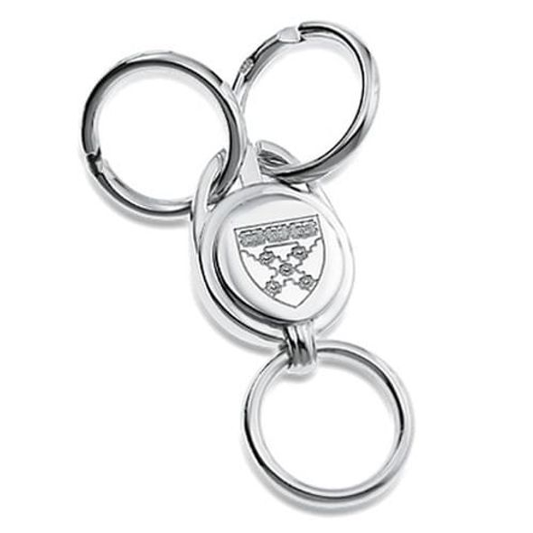 Harvard Business School Sterling Silver Valet Key Ring