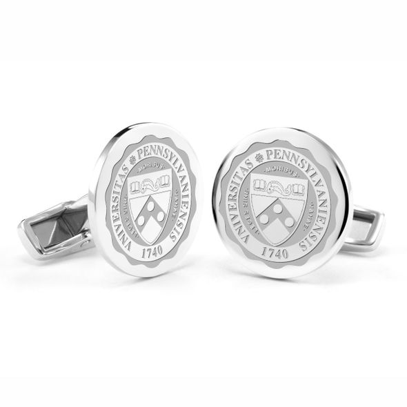 University of Pennsylvania Cufflinks in Sterling Silver