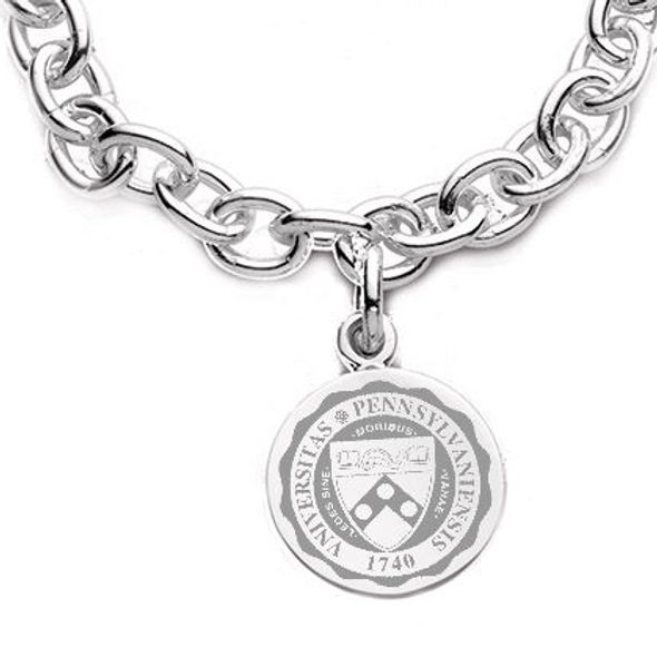 Penn Sterling Silver Charm Bracelet - Image 2