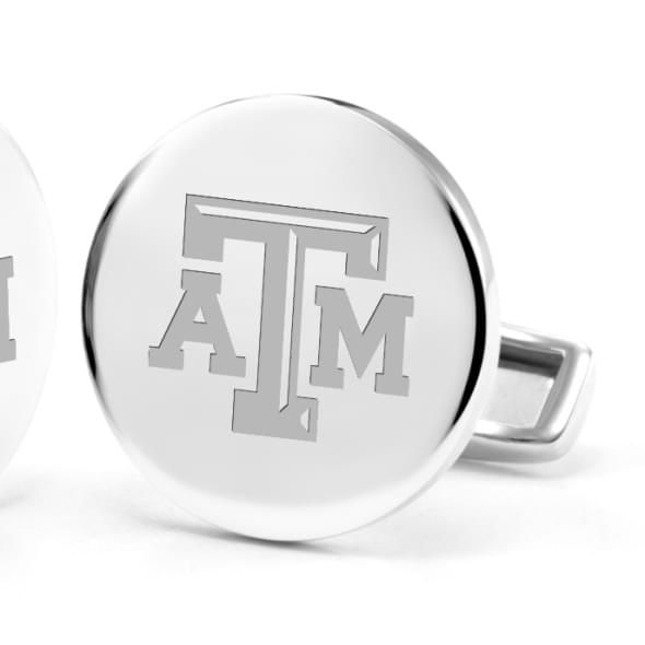 Texas A&M University Cufflinks in Sterling Silver - Image 2