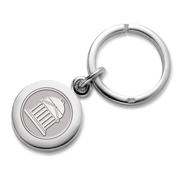 SMU Sterling Silver Insignia Key Ring