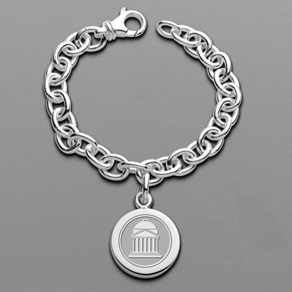 SMU Sterling Silver Charm Bracelet